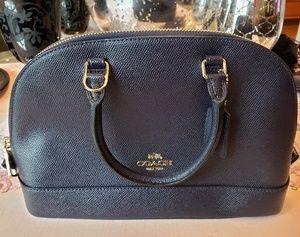Coach Mini Crossgrain Black Handbag NWOT